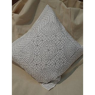 Tribal Asian Textiles Decorative Handmade Embroidery Design Sofa Cushion Cover 16 X 16 Inches