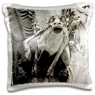 3dRose Gargoyle on Notre Dame Cathedral, Paris, France-Eu09 Wsu0028-William Sutton-Pillow Case, 16 by 16