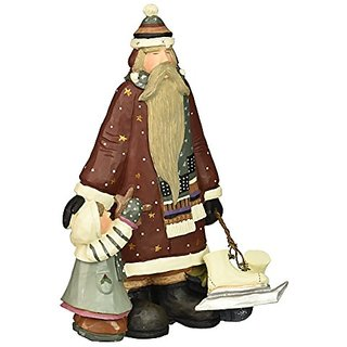 Williraye to The Pond & Beyond Santa & Child with Skates Figurines
