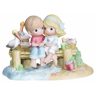 Precious Moments Ed Couple on Dock Figurine