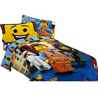 Lego Movie Twin / Full Comforter and Sheet Set (4 Piece Set) New!