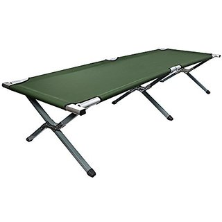 VIVO Cot, Green Fold up Bed, Folding, Portable for Camping, Military Style w/Bag (COT-V01),
