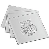 American Atelier 1360020 Owls Glass Coasters/Pillar Holders (Set Of 4)
