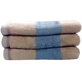 Livingston Home Luxurious 3-Piece Brown Block Bath Towel Set