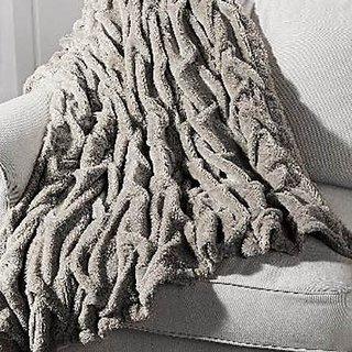 Vogue Luxury Faux Fur Sherpa Reversible Throw Blanket 50