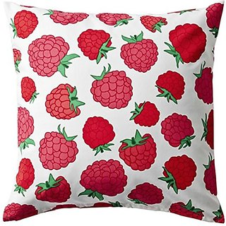 Ikea Sommar 2015 Cushion Cover Raspberry Design with Zipper 20 X 20 100% Cotton