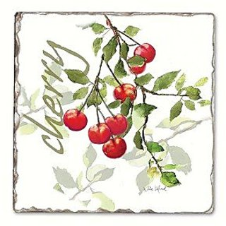 Counter Art CART11724 Julies Cherries Single Tumbled Tile Coaster