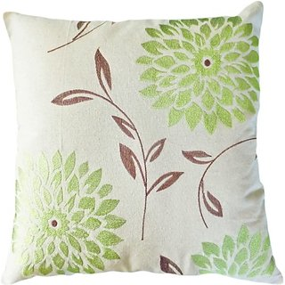Decorative chrysanthemum Flower Embroidery Floral Throw Pillow COVER 18