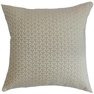 The Pillow Collection Cinquefoil Geometric Pillow, Neutral