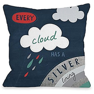 Bentin Home Decor Every Cloud Has a Silver Lining Throw Pillow by Nina Seven, 18