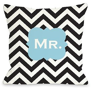 Bentin Home Decor Mr. Chevron Throw Pillow by OBC, 26