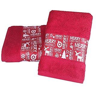 Enchante Home Merry Christmas Towel Set, Red