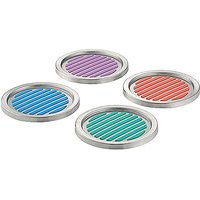 InterDesign Forma Colorful Stainless Steel Coasters, Set Of 4, Assorted
