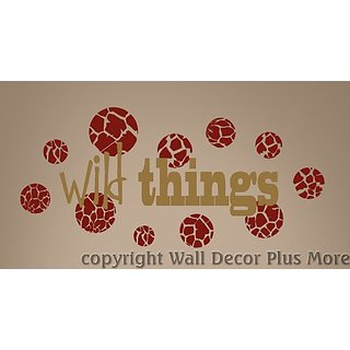 Wall Decor Plus More Wild Things Wall Vinyl Sticker Saying Quote Decal 23