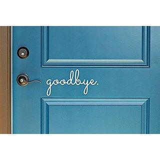Goodbye in Cursive Indoor/Outdoor Lettering Wall Art Decor Sticker Vinyl for Door 5