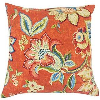 The Pillow Collection P18-WAV-678343-GEM-L55R45 Qimat Floral Pillow, Gem
