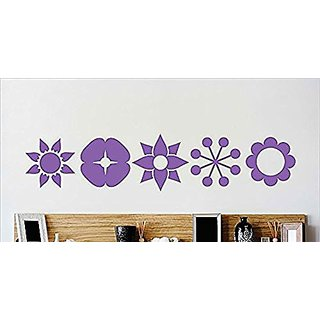 Design with Vinyl Cryst 529 1190 Purple Sheet of Flower Border Designs Vinyl Wall Decal Art Home Decor Bedroom Living Ro
