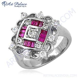 Women's Hot Sale Fashion CZ Silver Ring
