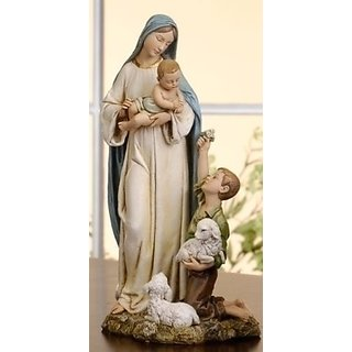 Shepherd Boy with Madonna and Child Renaissance Collection Figure - 9
