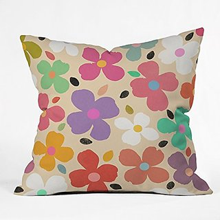DENY Designs Garima Dhawan Dogwood Vintage Throw Pillow, 16 x 16