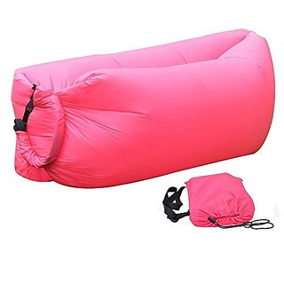 EAAGD Pink Outdoor Inflatable Sleeping Bag,Small