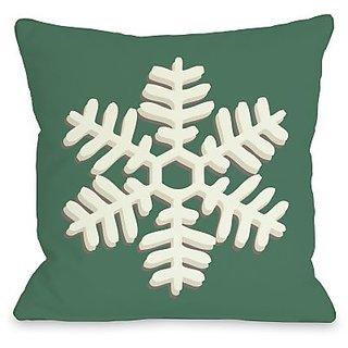 Bentin Home Decor Single Snowflake Throw Pillow by OBC, 26