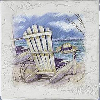 Set of Four Summer Breeze Ambiance Coasters - Style AE2022