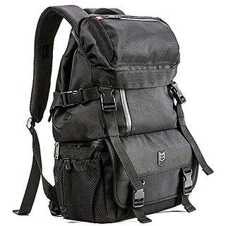 Evecase DSLR/SLR Digital Camera / Lens Kit Travel Rugged Backpack - Black (Water Resistant)