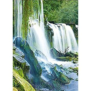 WATERFALLS UNFRAMED Holographic Wall Art-POSTERS That FLIP and CHANGE images-Lenticular Technology Artwork--MULTIPLE PIC