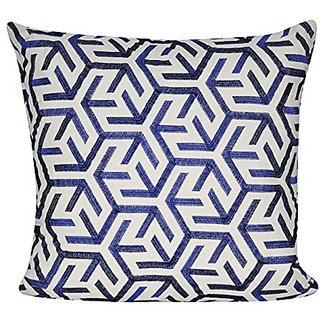 BR &Nameinternal P0563-2222P Blue Sun Geo Decorative pillow