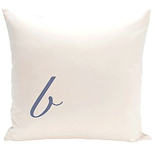 E By Design PMSR2BL17-20 Monogram Print Pillow, 20