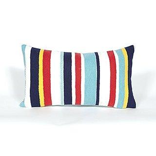 Liora Manne 7S01SA39144 Mystic III Nautical Stripe Multi Pillow