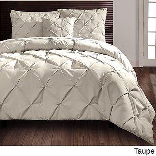 Victoria Classics VCNY Carmen 4 Piece Comforter Set, Queen, Taupe