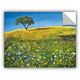 ArtWall Marina Petros Golden Meadow Art Appeelz Removable Wall Art Graphic, 24 by 32