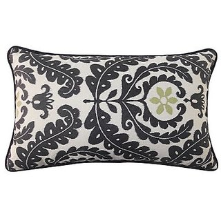 Jiti Shine Outdoor Polyester Throw Pillow, 12 by 20-Inch, Black