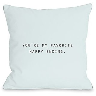 Bentin Home Decor Favorite Happy Ending Throw Pillow by OBC, 16