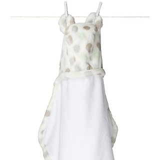 Little Giraffe Luxe Dot Towel (celadon)