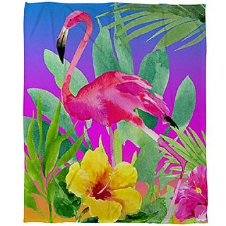 Thumbprintz Coral Fleece Throw, 50 by 60-Inch, Another Day in Paradise