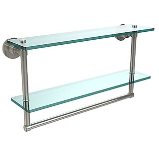 Allied Brass WS-2TB/22-PNI 22 by 5-Inch Glass Shelf with Towel Bar