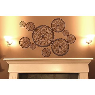 Surface Collective Woodcut Wall Decal, Brown