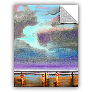 ArtWall Susi Francos Oregon Razor Clammers Art Appeelz Removable Graphic Wall Art, 24 by 32