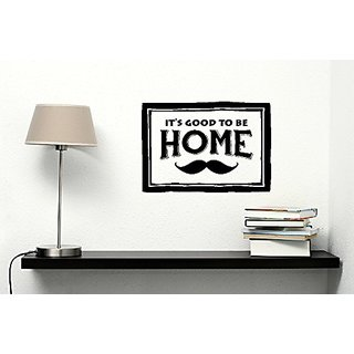 Wall Decor Plus More WDPM3193 Its Good To Be Home with Mustache Vinyl Wall Decal Art, 11x16 11x16 , Black