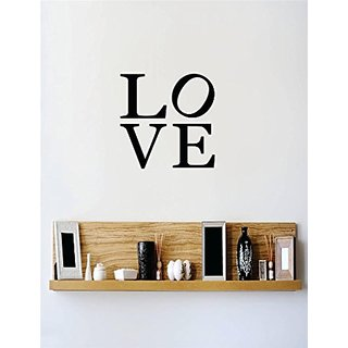 Design with Vinyl 3 C 2140 Decor Item Love Quote Wall Decal Sticker, 18 x 18-Inch, Black