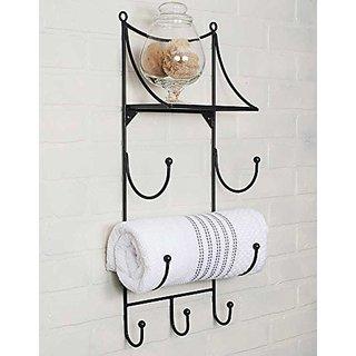 Towel Wall Rack with Shelf