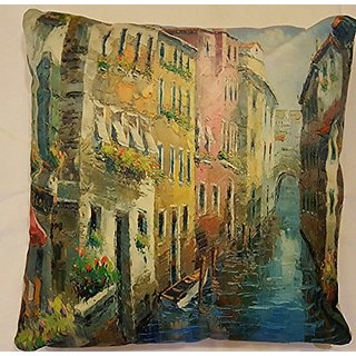DECORATIVE THROW PILLOWS BEAUTIFUL RIVER 15X15 INSERT INCLUDED