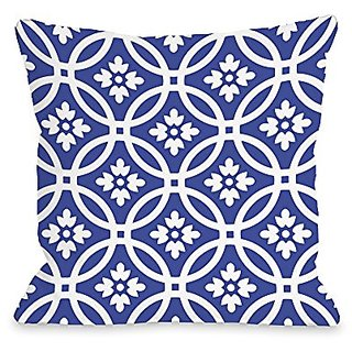 Bentin Home Decor Meredith Circles Throw Pillow w/Zipper by OBC, 16