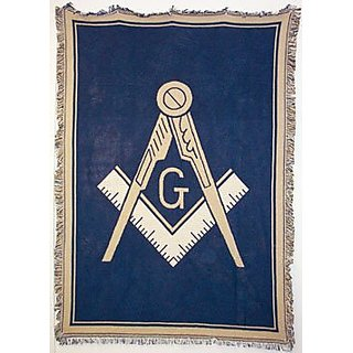 Pure Country Weavers Masonic Blanket 5463-A 48 inches wide by 69 inches long, 100% cotton