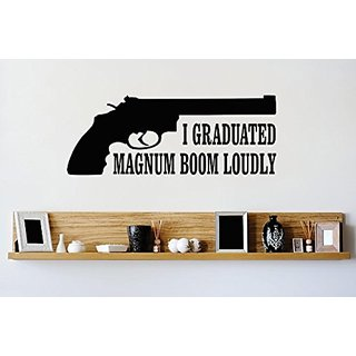 Design with Vinyl 3 Zzz 313 Decor Item I Graduated Magnum Boom Loudly Image Quote Wall Decal Sticker, 20 x 30-Inch, Blac