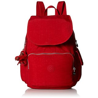 Kipling Ravier Medium Flapover Backpack Cherry,One Size