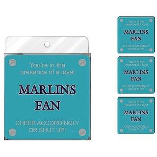 Tree-Free Greetings NC38087 Marlins Baseball Fan 4-Pack Artful Coaster Set